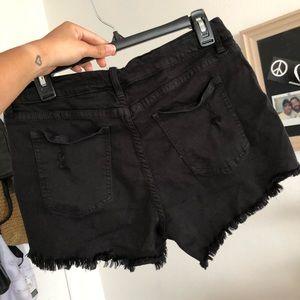Angel Kiss Distressed Black Shorts